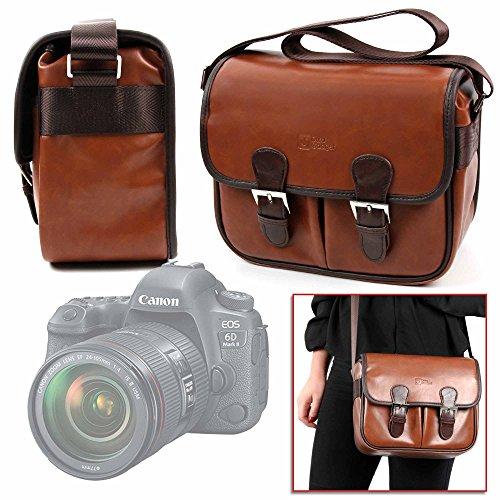 DURAGADGET Bolsa Profesional marrón con Compartimentos para Cámara Canon EOS 6D MK...