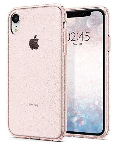 Spigen Funda Liquid Crystal Glitter Compatible con iPhone XR - Rose Quartz
