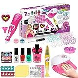 Nail Polish Set for Girls, Nail Art Kit for Kids with Fun Dusting...