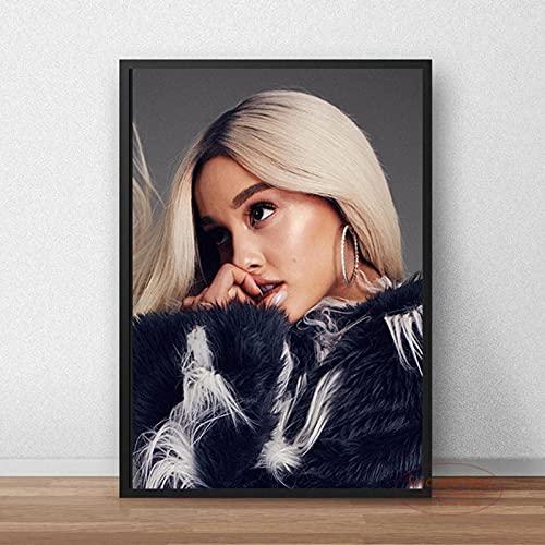 Weijiajia Star Ariana Póster de Pintura en Lienzo Arte de Pared en HD Sala de Estar Hogar y cafetería Decoración de Bar Colección de Ventiladores 50x70cm F-79
