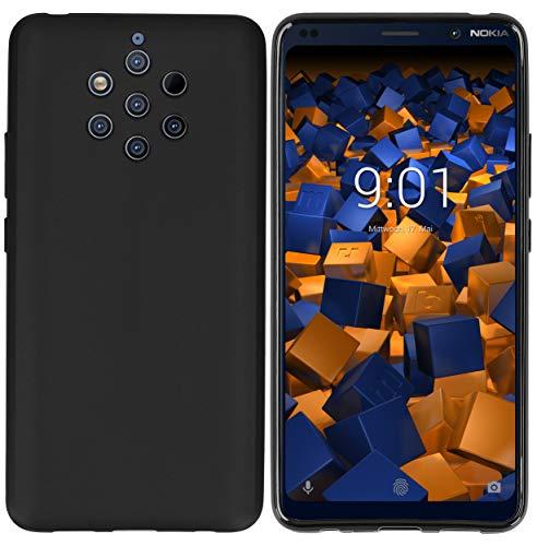mumbi Hülle kompatibel mit Nokia 9 PureView Handy Hülle Handyhülle, schwarz