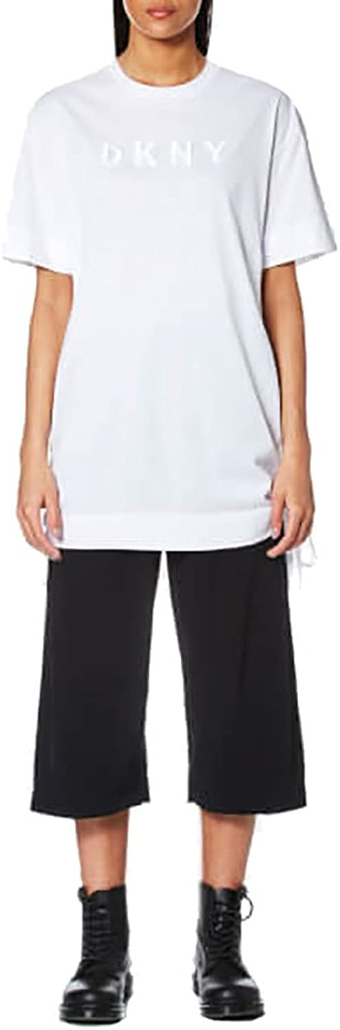 DKNY Short Sleeve Crew Neck TShirt With Embroidered Logo