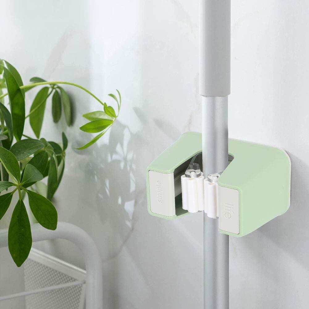 banapo Scopa Impermeabile e Resistente allumidit/à e Supporto per Scopa a Parete per Scope per 2 Organizer per Pezzi e Porta Attrezzi ecologici Green