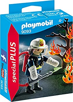 PLAYMOBIL Firefighter with Tree Building Set