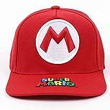 XINBANG Set de Juguetes Super Mary Super Mario Gorra de béisbol al Aire Libre de algodón Unisex Snapback Cap Sombreros Deportivos de Moda para Hombres y Mujeres Gorras