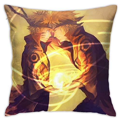 CVDGSAD Naruto Shippuuden Uzumaki Naruto Namikaze Minatocrying Rasengan Anime - Funda de cojín decorativa de 45,7 x 45,7 cm