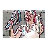 Cartel deportivo de lona para la jugadora de tenis, Maria Sharapova, 2 unidades, decoración de dormitorio, paisaje, oficina, habitación, decoración, regalo, 50 x 75 cm