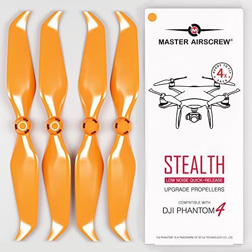 MAS - Eliche Stealth per drone DJI Phantom 4, 4 pezzi, colore: Arancione