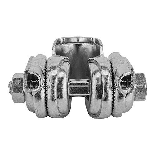 Sunlite Single Rail Saddle Clamp, Silver