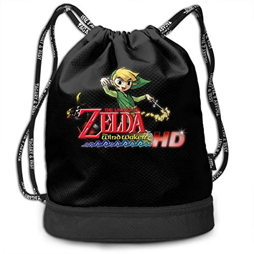Mochila con cordón The Legend of Zelda Wind Waker Drawstring Backpack Rucksack Shoulder Bags Training Sack For Gym Sports