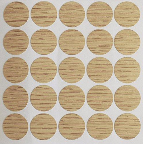 15 x 18 mm autoadhesivos tornillos de madera de roble, tapas para...