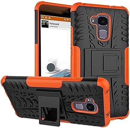 Huawei Honor 5C -Heavy Duty Armor Hybrid ShockProof Hard Back Case Cover -Orange