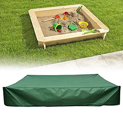 Afdekking voor zandbak, rechthoekig, bunkers, speelgoed, deken met trekkoord, vermijd verontreiniging door zand en speelgoed, klein zwembad, parasol, waterdicht, groen, 150 x 150 cm