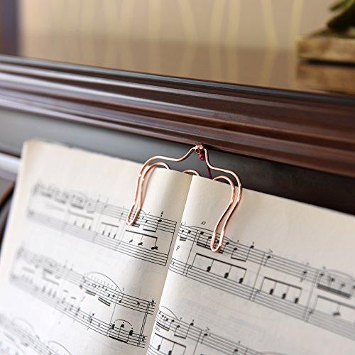 NKTM 楽譜クリップ 2点セット ピアノ用楽譜の固定・譜めくり補助
