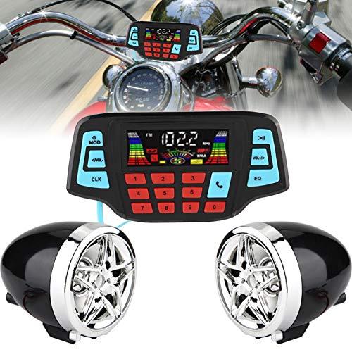 Sistema de altavoces BT Reproductor de música MP3 estéreo manos libres de alto rendimiento para motocicleta para automóvil para ahorrar energía