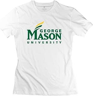 LinYang Women's Gifts George Mason University Logo Shirt White