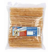 Delicious snack food treat for dog Made of dried rawhide material Most dogs love to chew incessantly Helps rub the plaque from the teeth Can support your dog's dental health ca. 12 cm / Diameter 5 - 6 mm, 100 items