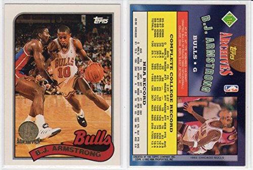 B.J. Armstrong Topps Archive Rookies Gold Basketball Card