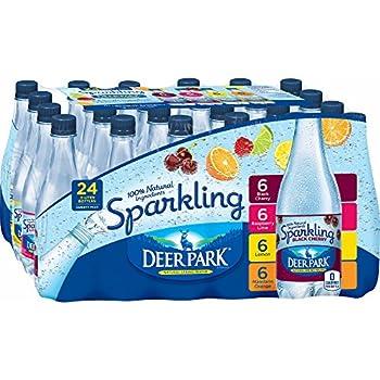 Deer Park Assorted Flavor Sparkling Natural Spring Water 24 pk./16 oz  pack of 2