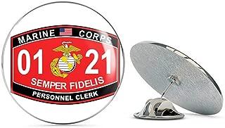 Veteran Pins Personnel Clerk Marine Corps MOS 0121 Steel Metal 0.75