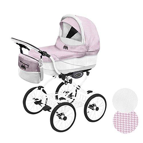 Kinderwagen Maxi Cosi Adapter Ballerina Heritage 2in1 weißer Rahmen (rosa weiß H08_02)