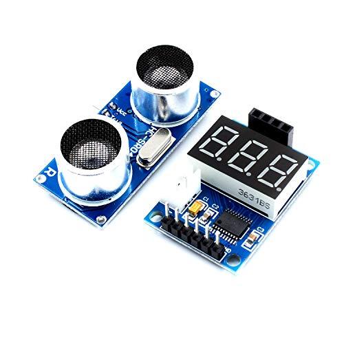Kuhe LDTR - WG0171 stuurkaart voor ultrasone afstandsmeting HC-SR04 testplaat afstandsmeter digitale display serieel output module