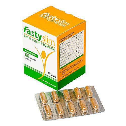 FastySlim Cápsulas premium veganas - 60 pastillas
