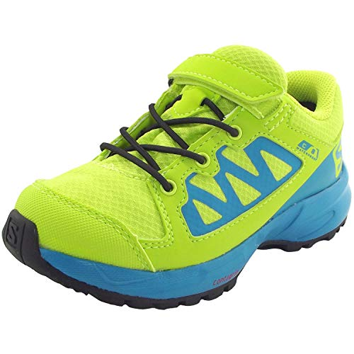 SALOMON XA Elevate CSWP K, Chaussures de Sport Mixte Enfant, Vert Bleu, 26