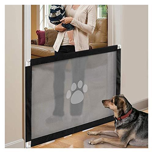 ASY Puerta para Perros Puertas Retráctiles para Perros Puerta De Pantalla para Mascotas Portátil Puerta para Perros Red De Aislamiento Plegable para Mascotas De Malla para Puerta Cocina