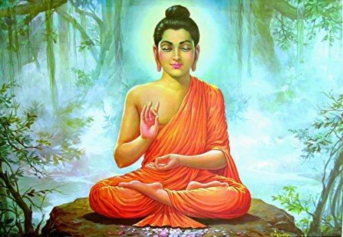 Gautam Buddha Vinyl decal Wall Car Laptop, - 15inch
