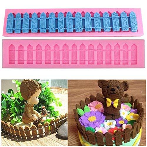 HENGSONG 3D Garten Zaun Silikonform Muffin Schokolade Süßigkeiten Form Kuchen Dekorieren Werkzeuge DIY Silikon Backen Fondant Formen