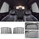 Auto Universeller Sonnenschutz Heckscheibe Vorhang für TOYOTA Yaris Avensis GT86 Hilux Corolla Prius Camry Einziehbarer und die Privatsphäre Schützender Autofenster Magnetisch Sonnenrollo Silber