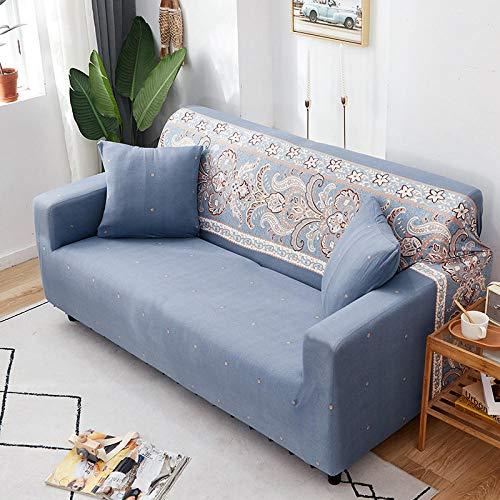 Cubierta Antideslizante en Tejido elástico Extensible Fundas de sofá Chaise Longue Impresas en Forma de L de 3 plazas para Sala de Estar, Protector elástico Antipolvo para Esquina I