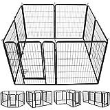 Yaheetech Welpenlaufstall Tierlaufstall Freigehege Hunde Laufstall aus 8 Panelen je