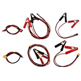 HELEISH 14 AWG 30 / 200cm Tipo T/pinza cocodrilo a T / XT60 enchufe hembra cable de alambre for Q6 cargador Piezas de montaje de bricolaje (Color : Length 30cm U to T Plug)