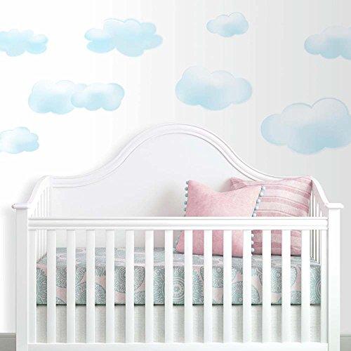 RoomMates RMK1250SCS - Pegatinas para Pared con diseño de Nubes, 19 Unidades