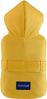 Avanigo Dog Wear Yellow Dog Raincoat with Pockets, Rain/Water Resistant - Size S to XXL Available - Stylish Premium Dog Raincoats