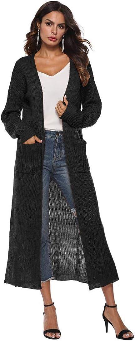 Women Autumn Long Sleeve Open Cape Casual Coat Kimono Jacket Long Cardigan