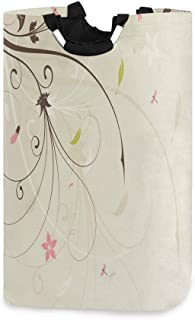 ZOMOY Grand Organiser Paniers pour Vêtements Stockage,Spring Field Bouquet Shabby Chic Abstract Blossom Groenland Graphic ...