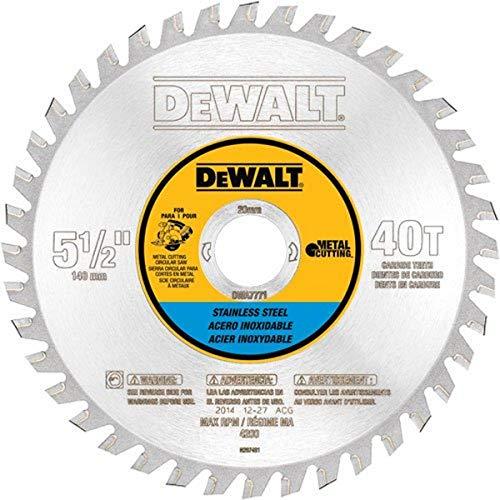 DEWALT DWA7771 30 Teeth Stainless Steel Metal Cutting 20mm Arbor, 5-1/2-Inch