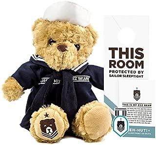 ZZZ Bears Sailor Sleeptight Navy Teddy Bear - Military Plush Toy, Four Step Sleep System to Help with Bedtime (Navy Crackerjack Uniform)