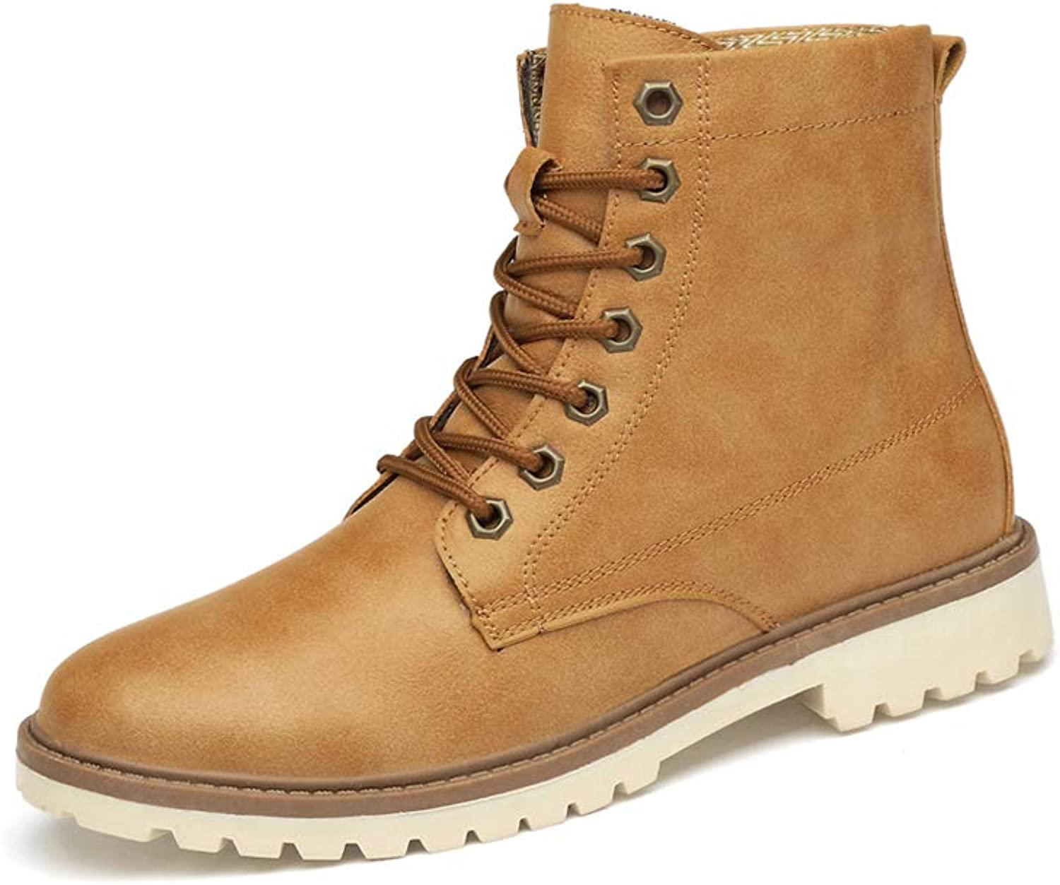 Men's Retro British style Keep warm Martin boots Non-slip Breathable High help Bare boots Waterproof Tooling shoes