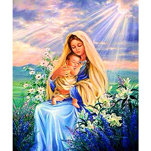 Hua5D Punto De Cruz Diamante 5D Virgen Religiosa Diamond Painting Completo Grande Bordado Diamantes Kits Full Drill For Adults Infantil 70x80cm