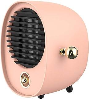 KAILUN Mini Heater Estufa Eléctrica Portatil 500 W con Termostato, Mini Estufa Eléctrica Calefactor Portátil Instant Heater con Termostato Ajustable,Rosado