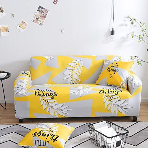 ASCV Funda de sofá elástica Estampada geométrica elástica para Sala de Estar Funda seccional Protector de Muebles de sofá A4 3 plazas