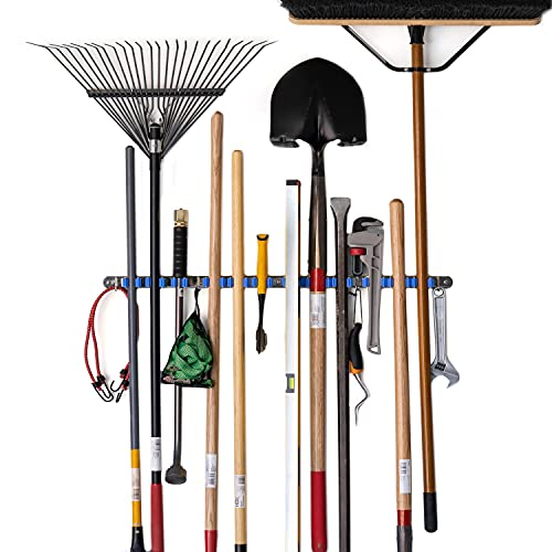 Tool Organizers and Storage 12 Grip Wall Mounted Garden Tool Rack, Garden Tool Organizer, Broom Holder Wall Mount, Garage Organization, Garden Tool Storage, Broom Holder,Garage Storage Hooks N Holders