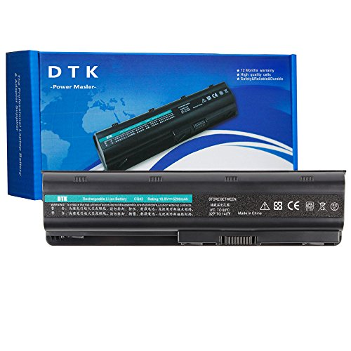 DTK MU06 593553-001 Laptop Battery for HP G62 Pavilion G6 G7 DV6-6000 Compaq Presario CQ42 CQ56 CQ57 Notebook 10.8v 5200mAh 6-Cell
