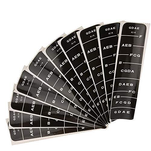 Etiqueta de Escala de Violín, Violin Sticker Black Blue Fingerboard Guide Principiantes...