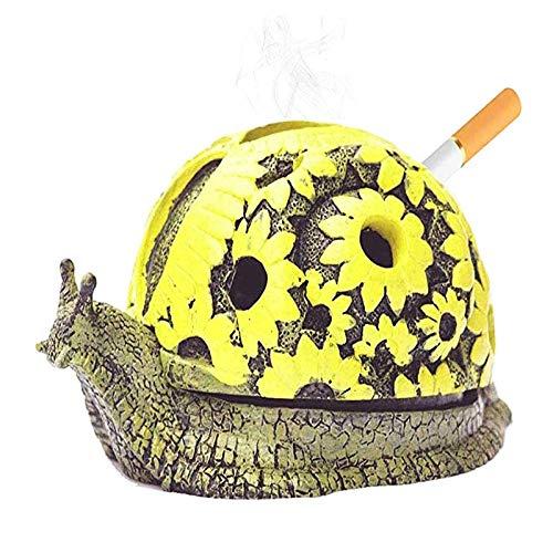 STKJ Cenicero De Caracol De Resina, Ceniza De Cigarrillos con Tapa, Bandeja De Animales con Personalidad, Barra De Oficina En Casa, Accesorios Decorativos