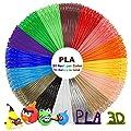 dikale 3D Pen PLA Filament Refills Total16 Colors, 320 Feet with 100 Stencils EBooks, 3D Printing Pen 1.75mm PLA Filament